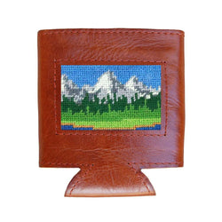Smathers and Branson Tetons Needlepoint Can Cooler by Smathers & Branson