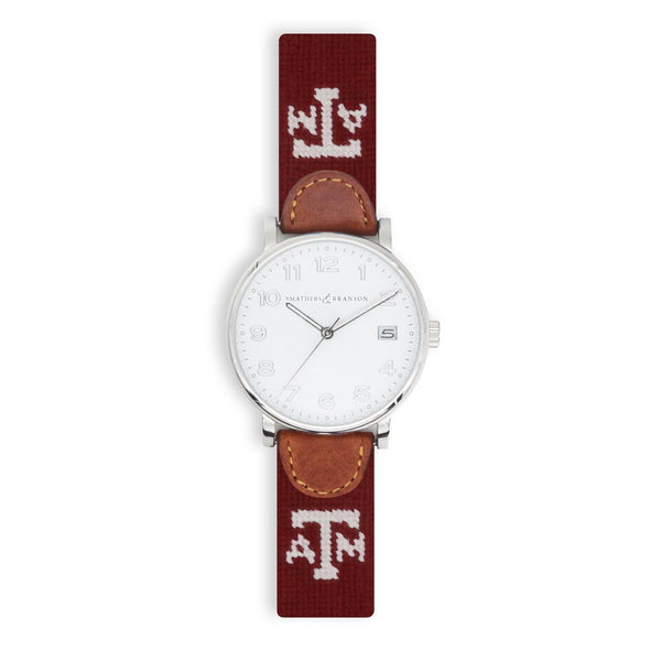 Texas A&M Needlepoint Watch by Smathers & Branson