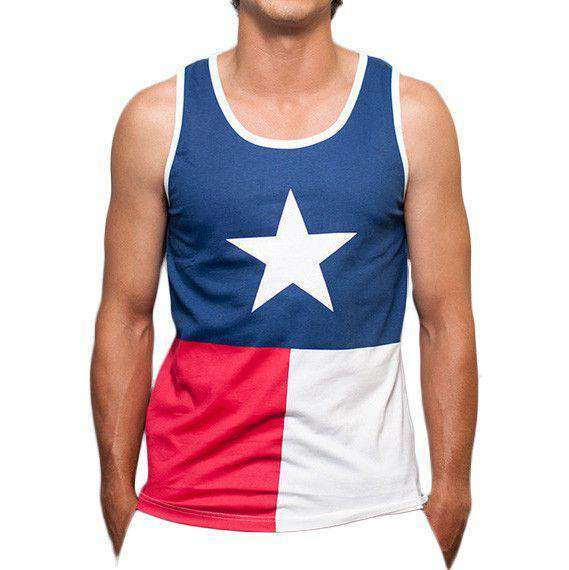 Texas Flag Tank Top in Red, White and Blue by Rowdy Gentleman  - 1