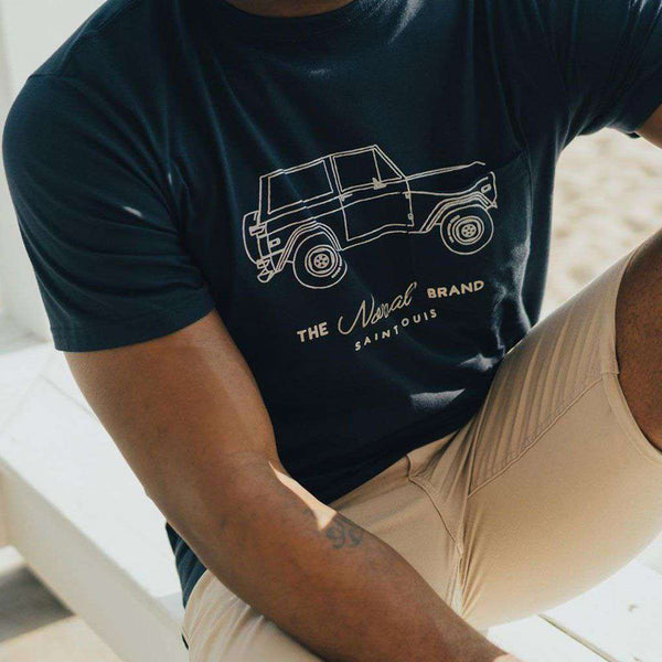 Bronco Short Sleeve Tee in Navy & Oak by The Normal Brand - FINAL SALE