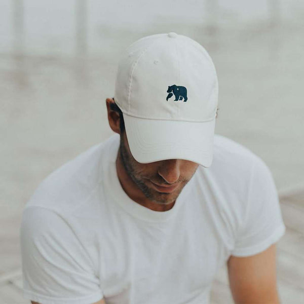 The Performance Bear Cap in White by The Normal Brand - FINAL SALE