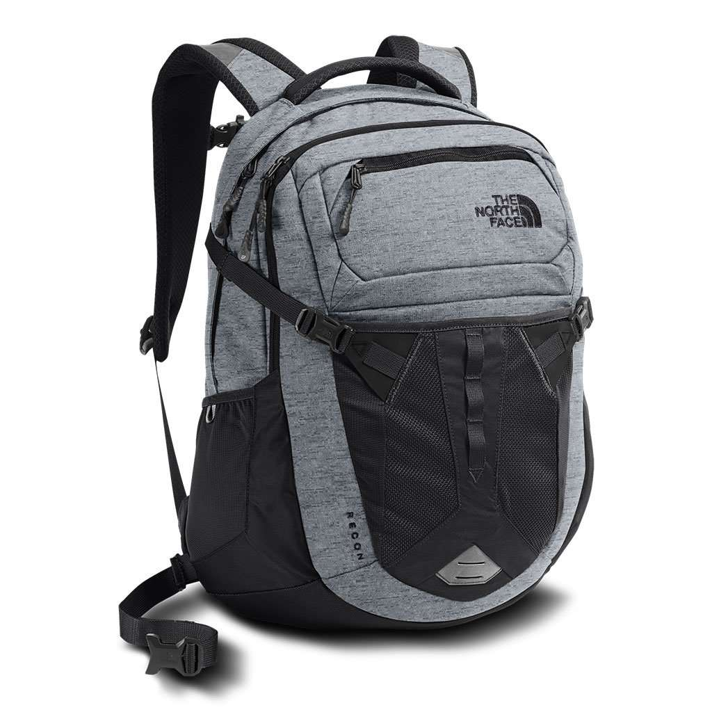 The North Face Recon Backpack In Mid Grey Amp Asphalt Grey