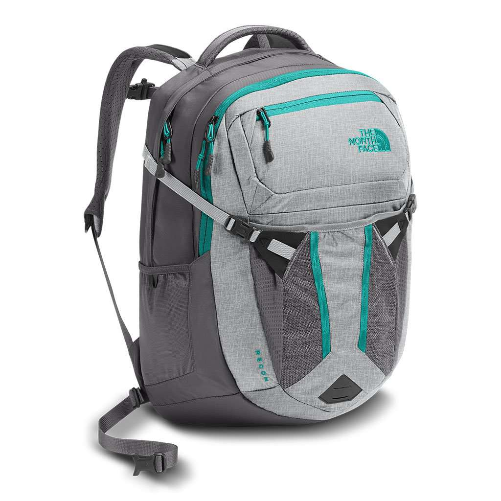 8cf9b17105 Women's Recon Backpack in Glacier Grey White Heather & Pool Green by The  North Face