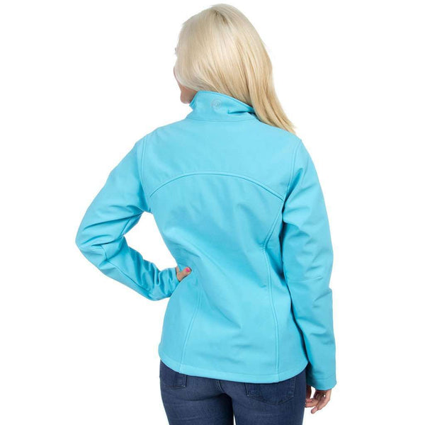 The Bradford Soft Shell Jacket in Glacier Blue by Lauren James - FINAL SALE