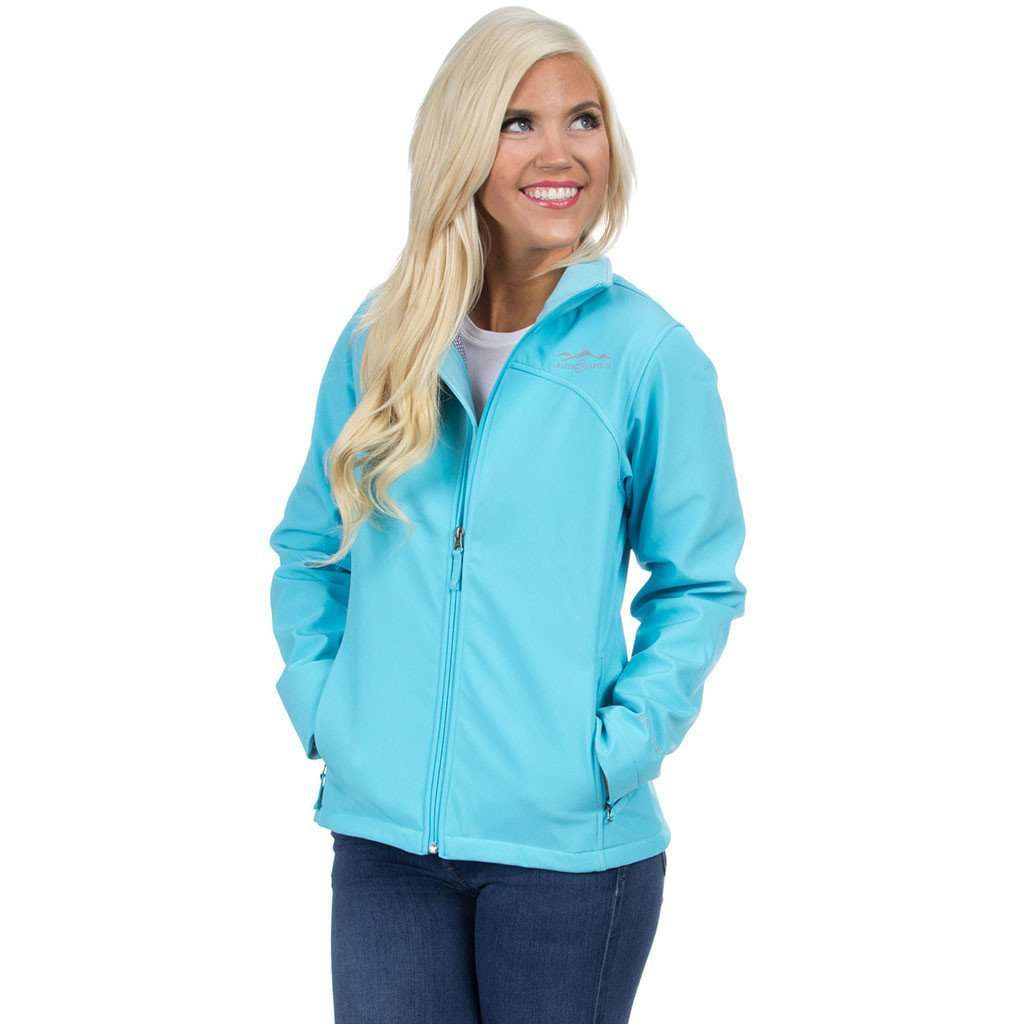 The Bradford Soft Shell Jacket in Glacier Blue by Lauren James  - 1