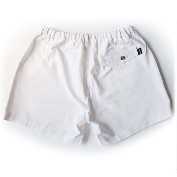 "The Miami Whites 5.5"" Shorts in White by Kennedy - FINAL SALE"