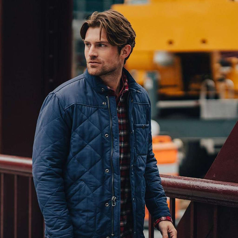 Henry Quilted Jacket in Navy by The Normal Brand - FINAL SALE