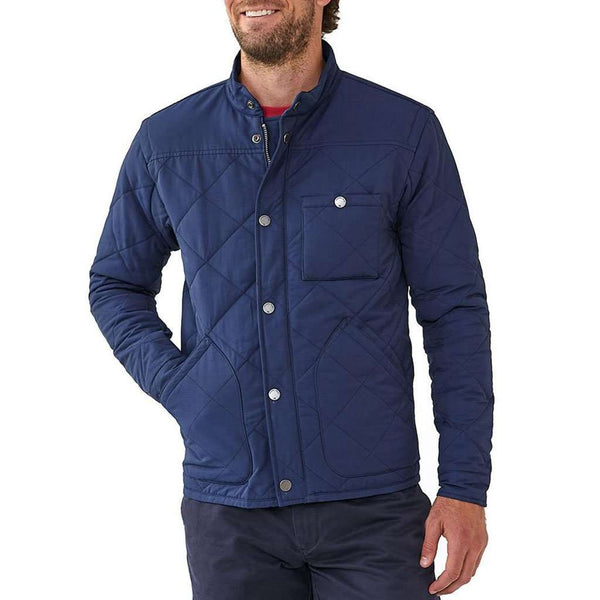 The Normal Brand Henry Quilted Jacket in Navy