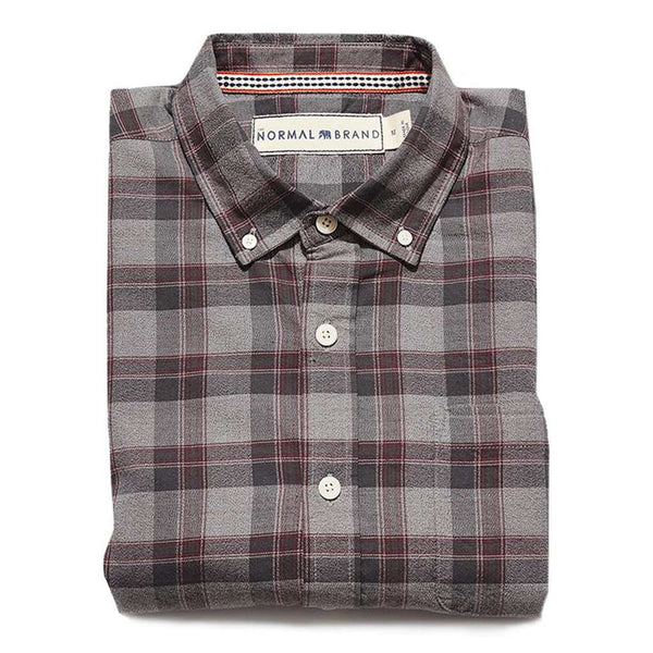 The Normal Brand Jaspe Yarn Plaid Button Down Shirt