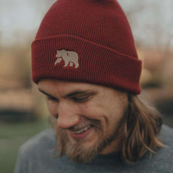 Knit Beanie in Rust by The Normal Brand - FINAL SALE