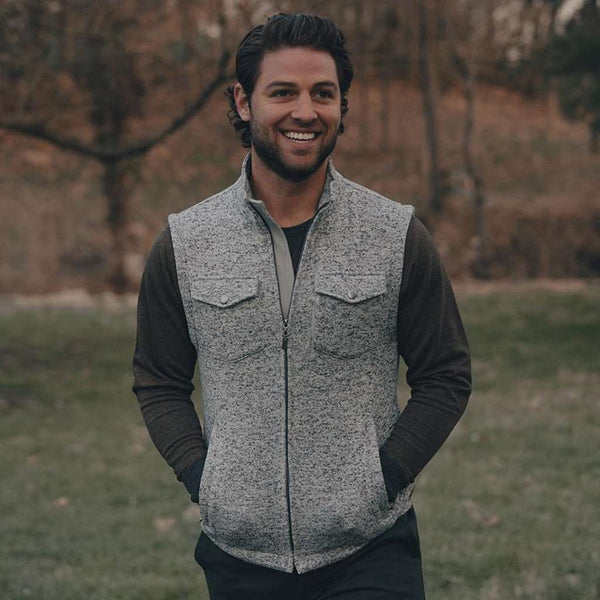 Lincoln Fleece Vest in Grey by The Normal Brand - FINAL SALE