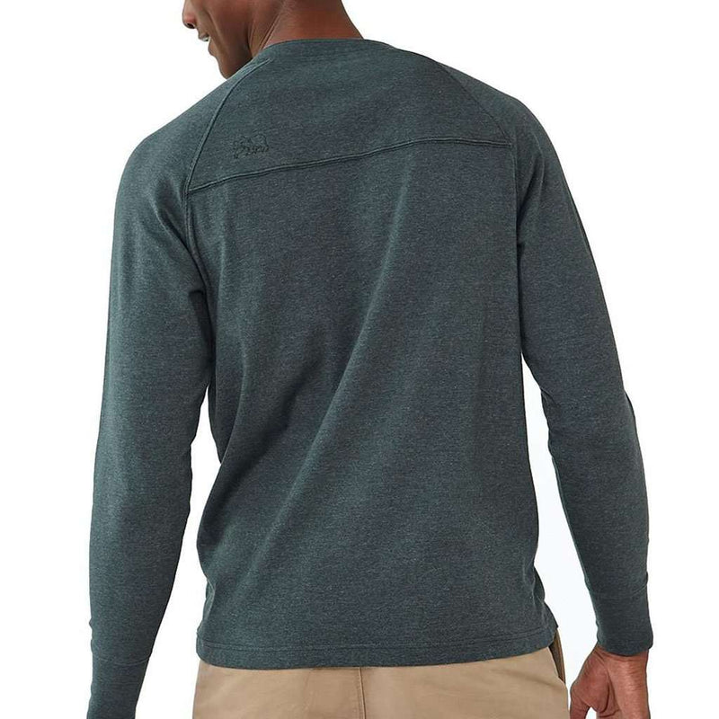 Long Sleeve Puremeso Henley Tee in Green Gables by The Normal Brand - FINAL SALE