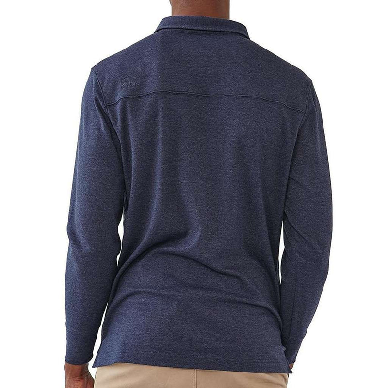 The Normal Brand Long Sleeve Puremeso Polo in Navy