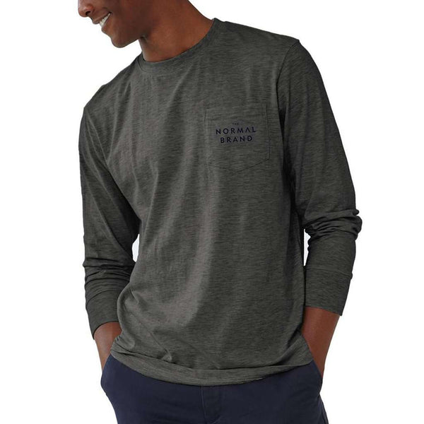 Long Sleeve Vintage Active Wear T in Tri Blend Grey by The Normal Brand - FINAL SALE