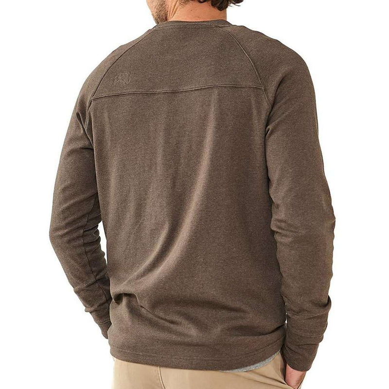 Puremeso Crew Pullover in Brown by The Normal Brand - FINAL SALE