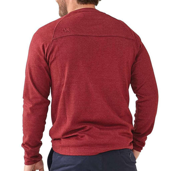 Puremeso Crew Pullover in Tibetan Red by The Normal Brand - FINAL SALE