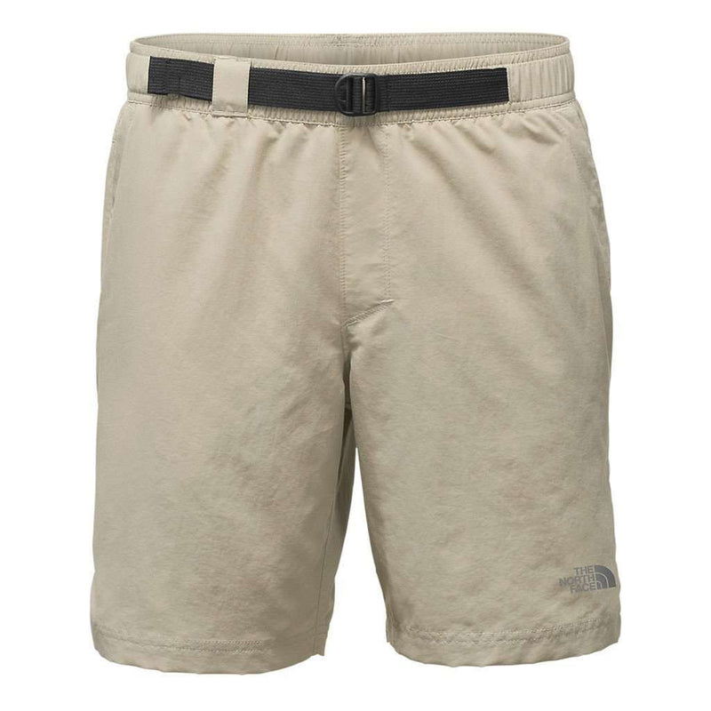"Men's 8"" Class V Belted Trunks in Granite Bluff Tan by The North Face"