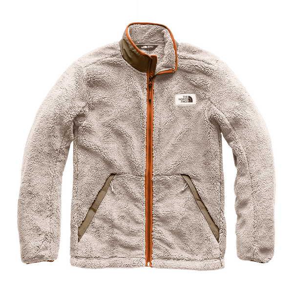 The North Face Men's Campshire Full Zip Sherpa Fleece in Granite Bluff Tan & Beech Green