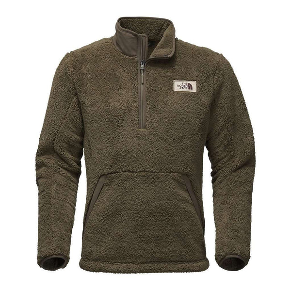 The North Face Men's Campshire Sherpa Fleece Pullover in Burnt Olive Green