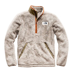 92ebe0d3d68e The North Face Men s Campshire Sherpa Fleece Pullover in Granite Bluff Tan    Beech Green