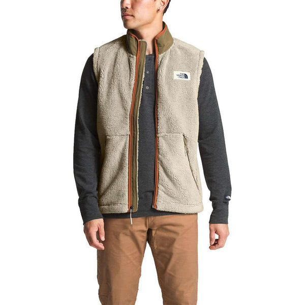 b50abaeec Men's Campshire Sherpa Vest in Granite Bluff Tan & Botanical Garden Green  by The North Face - FINAL SALE