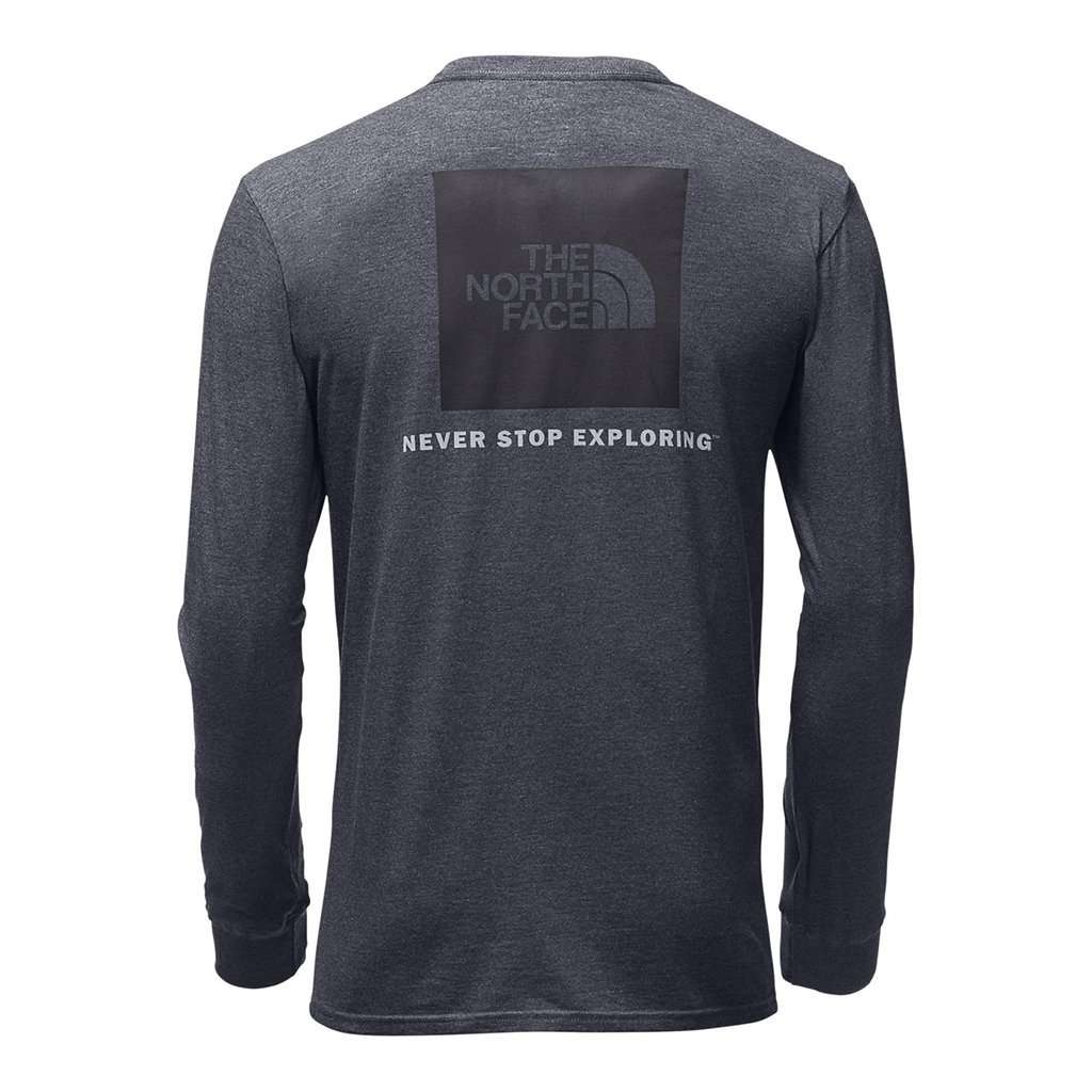 a57e55570 Men's Long Sleeve Red Box Tee in TNF Medium Grey Heather by The North Face  - FINAL SALE