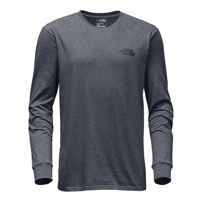 Men's Long Sleeve Red Box Tee in TNF Medium Grey Heather by The North Face - FINAL SALE