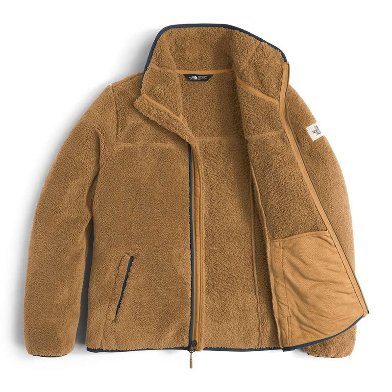 Women's Campshire Full Zip Sherpa Fleece in Biscuit Tan by The North Face - FINAL SALE