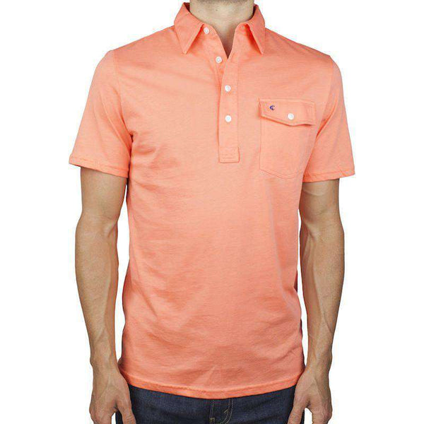 The Players Shirt in Captain Coral by Criquet - Country Club Prep