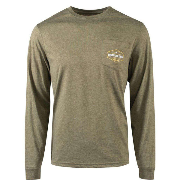 The Southern Shirt Co. A Day in the Field Long Sleeve Tee in Burnt Olive