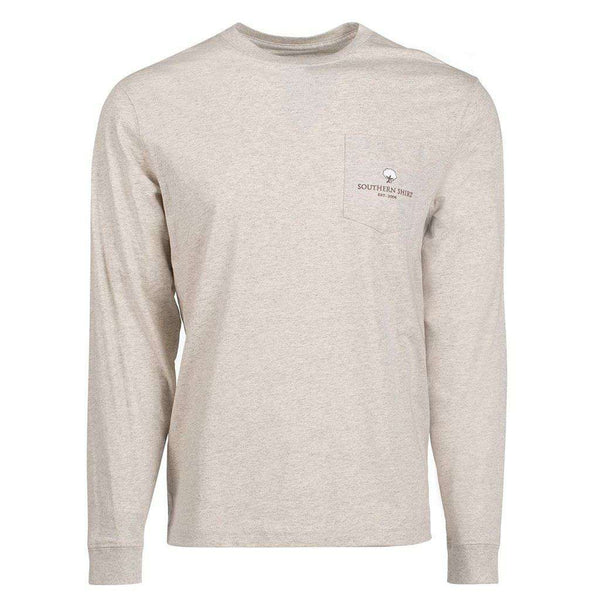 Buffalo Nickel Long Sleeve Tee in Oatmeal by The Southern Shirt Co. - FINAL SALE