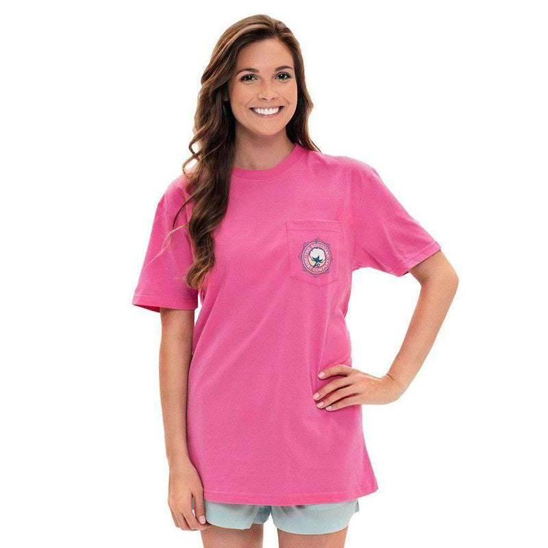 Cabana Tapestry Tee in Carmine Rose by The Southern Shirt Co. - FINAL SALE