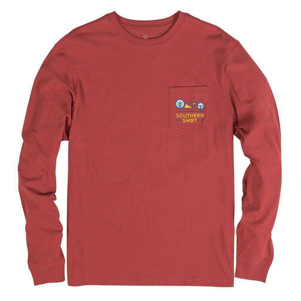 Canyon Sky Long Sleeve Tee in Tandori Spice by The Southern Shirt Co. - FINAL SALE