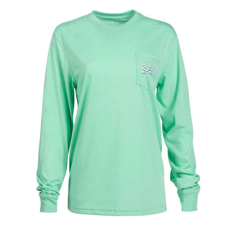 Chalky Mountains Long Sleeve Tee in Opal by The Southern Shirt Co. - FINAL SALE