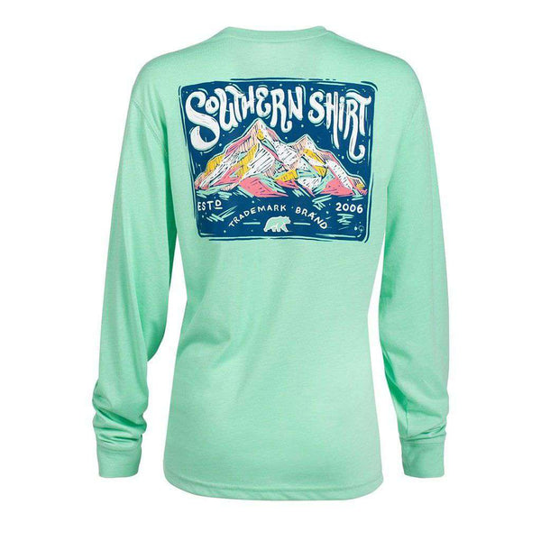 The Southern Shirt Co. Chalky Mountains Long Sleeve Tee in Opal