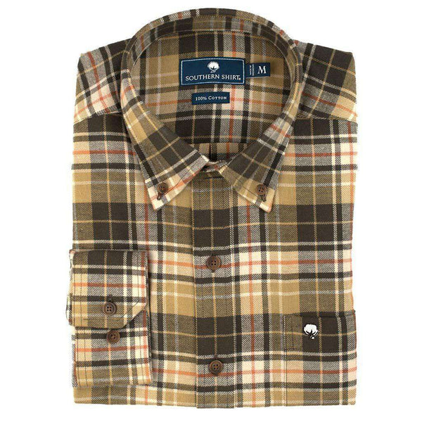 The Southern Shirt Co. Dogwood Flannel in Bark