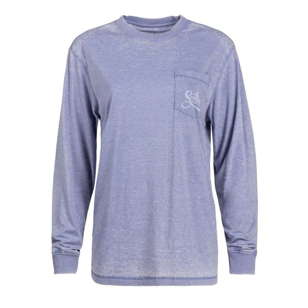 The Southern Shirt Co. Forest Florals Long Sleeve Tee in Frost Blue