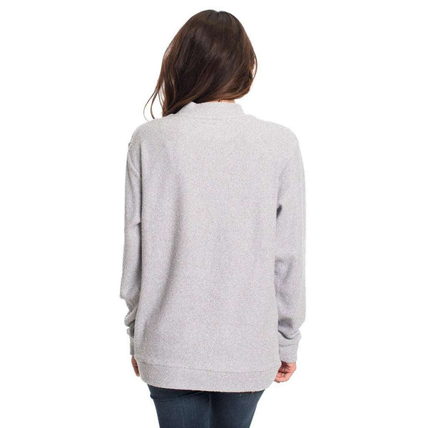 Heather Loop Knit Terry Pullover in Monument by The Southern Shirt Co. - FINAL SALE
