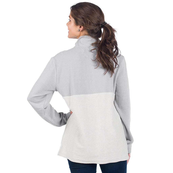 The Southern Shirt Co. Herringbone Loop Pullover in Alloy