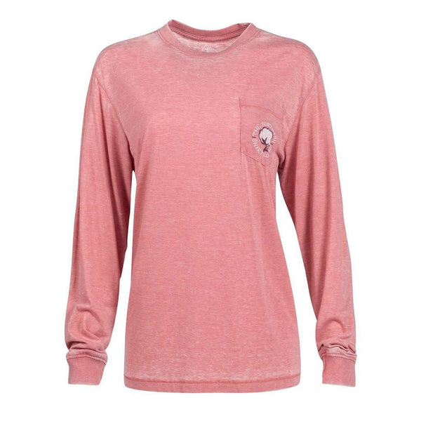 The Southern Shirt Co. Owl Night Long Sleeve Tee in Mauveglow