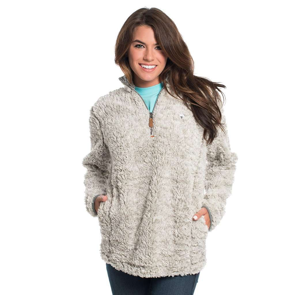 New The Southern Shirt Co. Heather Sherpa Pullover with Pockets in  MH17