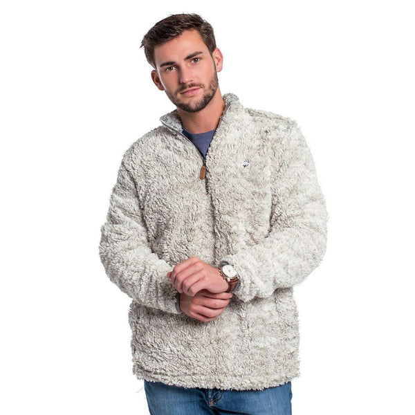 Heather Sherpa Pullover with Pockets in Mystic by The Southern Shirt Co.