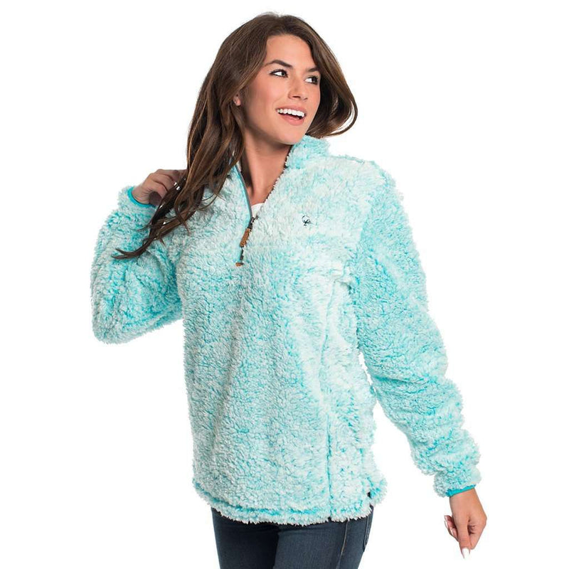 The Southern Shirt Co. PRE-ORDER Heather Sherpa Pullover with Pockets in Oasis