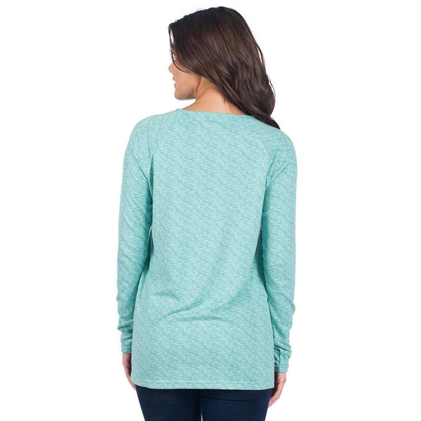 Riley Raglan Fleece in Morning Frost by The Southern Shirt Co. - FINAL SALE