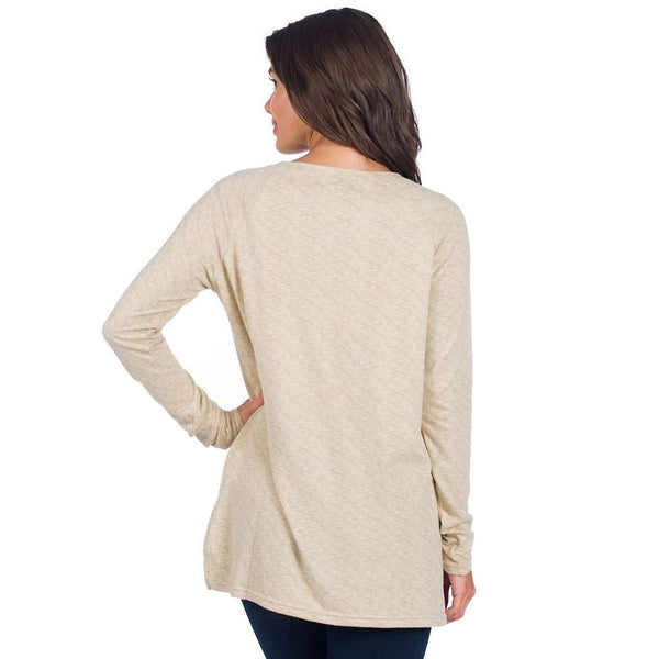Riley Raglan Fleece in Oxford Tan by The Southern Shirt Co. - FINAL SALE