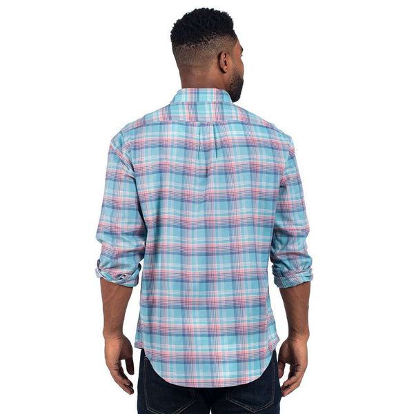 Sweet Water Flannel in Glacier by The Southern Shirt Co. - FINAL SALE