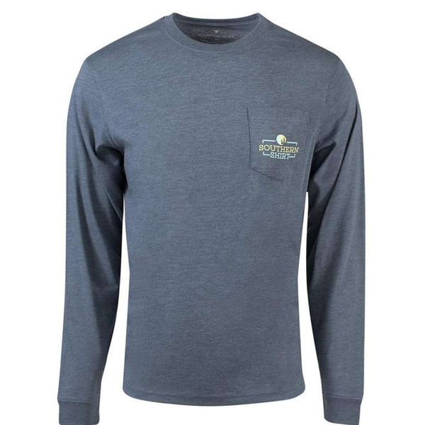 The Southern Shirt Co. Timber Creek Long Sleeve Tee in Slate Blue