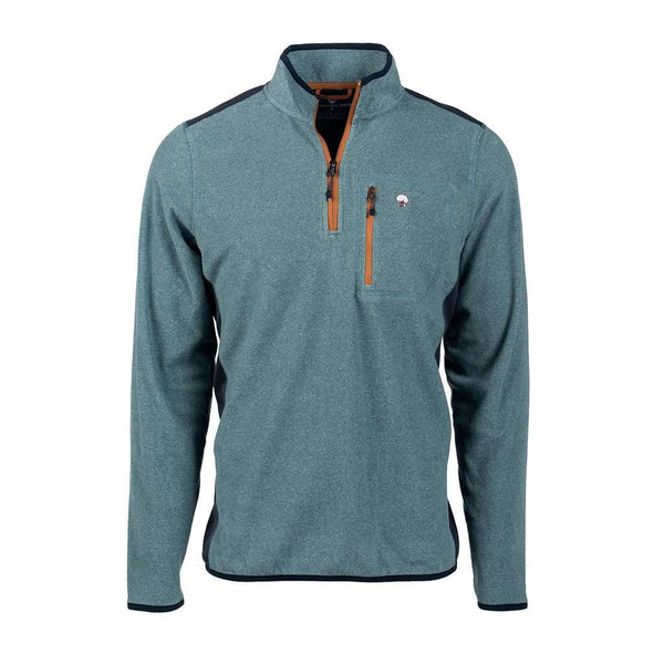 The Southern Shirt Co. Trailhead Quarter Zip in Deep Atlantic