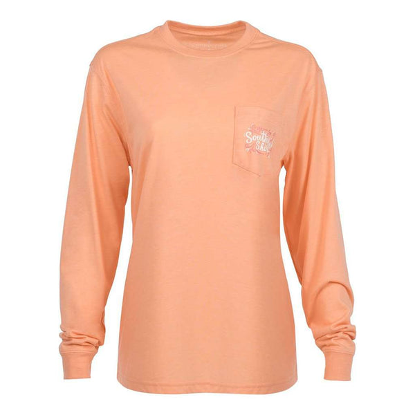 The Southern Shirt Co. Warm and Toasty Long Sleeve Tee in Papaya