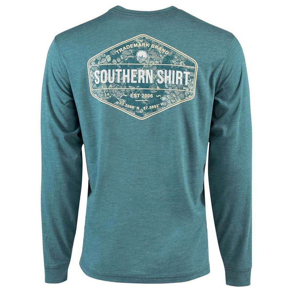 The Southern Shirt Shadow Badge Long Sleeve Tee in Colonial Blue